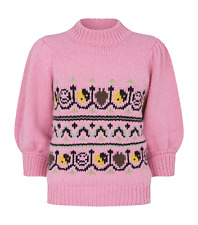 Ganni Women's Multicolour Pull Over K1287- Small New With Tags