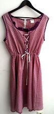 Damen Trachten Kleid ärmellos lila kariert Gr. M v. Magomora