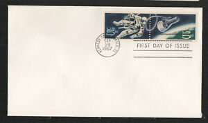 #1331-32 5c Space Twins Lot of 14 No Cachet FDC's Great For Add-Ons UA  G5428