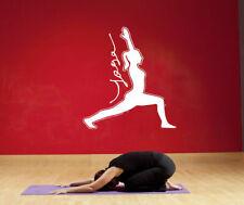 Wall Vinyl Sticker Room Decal Fitness yoga class posture hindu mehdi art bo3127