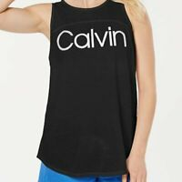 Calvin Klein Performance Active Logo Tank Top keyhole back Medium New with Tags