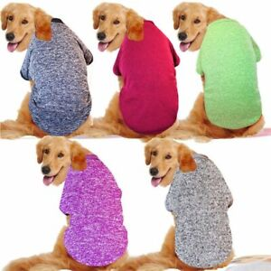 Winter Sweaters For Dogs Dog Clothes Hoodies Retriever Jacket Pitbull Bulldog