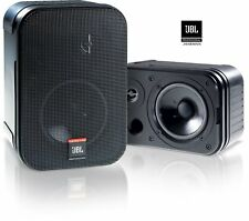 JBL Control 1 Pro Wall Mounted/Bookshelf Loud Speakers (Pair) with Wall Brackets