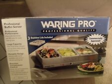 WARING PRO Warming Tray Commercial Food Warmer Triple Buffet Server