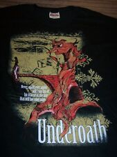 UNDEROATH A Moment Suspended In Time T-Shirt MEDIUM Hardcore Band NEW