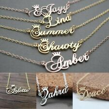 Personalized Necklace Custom Name Plate Pendant Stainless Steel Chain Jewelry