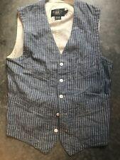 RRL Double RL Vest Waistcoat Size XS Chambray Cotton