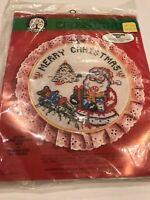 1986 COLORTEX Cross Stitch Kit 3757 Merry Christmas Santa