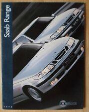 SAAB 95 900 & 9000 orig 1998 UK Mkt brochure - Coupe Convertible Turbo Talladega