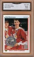 GMA 10 Gem Mint SCOTT NIEDERMAYER 1990/91 UD Upper Deck WJC Canada ROOKIE Card!