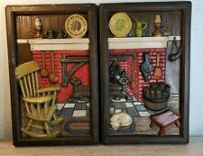 Vintage Plaque Fireplace Hearth Cabin Wall Decor