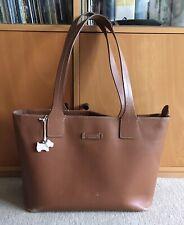 RADLEY Large Vintage Worn Supple Tan Leather Slouch Hobo Tote Sac Bag