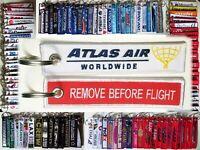 Keyring ATLAS AIR Cargo Remove Before Flight tag keychain