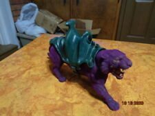 HE-MAN ACTION FIGURES PURPLE PANTHOR WITH SADDLE READ