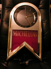 "1993 Michelob Beer lighted electric wall clock: Excellent condition 20""H x 11""W"