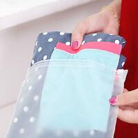 Plastique Zip-Lock vêtements Sacs à main Roll up Voyage Vide Stockage EVA Clear