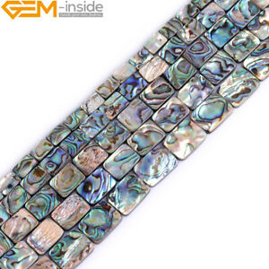 Genuine Rectangle Abalone Shell Natural Gemstone Loose Beads For Jewelry Making