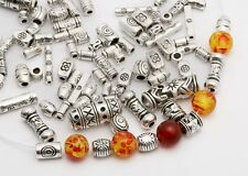 Mixed Tibet Silver Beads Spacer For DIY Jewelry Making European Bracelet Lot  AW