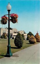 New Westminster BC~Queen's Park~Arean~Flower Baskets Hang from Lightposts~1950s