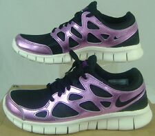 New Womens 5.5 NIKE Free Run 2 PRM EXT Purple Black Run Shoes $110 555340-001