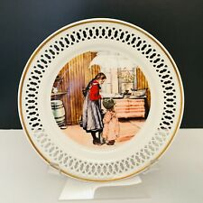 Bing & Grondahl Carl Larssons White Porcelain Reticulated Plate Made in Denmark