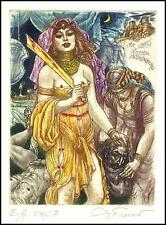 David Bekker Exlibris C4 Mythology Judith Holofernes Erotic Nude Woman 119