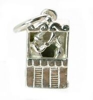 STERLING SILVER MOVABLE PUNCH & JUDY CHARM