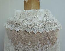 Stunning Edwardian 1900s Wedding Dress Collar & Flounce Edging Trim Antique Lace