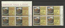 ITALY 1961 ST PAULS ARRIVAL 19th CENT BLOCKS MINT