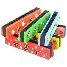 Baby Kid Plastic&Wooden Musical Harmonica Boy Girl Toy Instrument Xmas Gift New