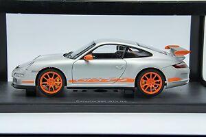 1/18 Autoart Porsche 911 GT3 RS Silver Rare Free Shipping