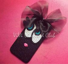 Fashion 3D Lace Bow Ribbon Big Eye Lip TPU Case Cover For Apple iPhone 6 6s plus