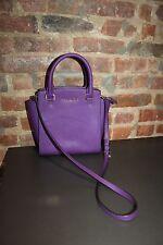 Authentic Michael Kors Purple Saffiano Leather Satchel Shoulder Bag