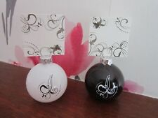 6 Bauble Place Card Holders | Black & White | With Matching Place Cards