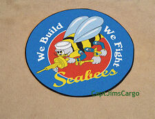 """US Navy Seabees Logo Seal Round Rug Mat 27"""" Military Medallion Wall Hanging"""