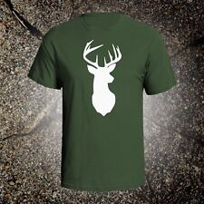 Deer Head 2 hunting vintage style graphic t shirt tee browning mossberg ruger