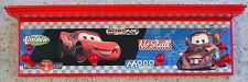 disney cars piston cup lightning mcqueen mater sally wall shelf coat rack red