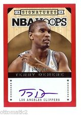 13-14 PANINI HOOPS RED BORDER TERRY DEHERE AUTO AUTOGRAPH #048/100