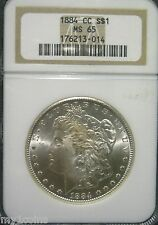 1884-CC MS-65-NGC Morgan Dollar-RARE-VAM-4A-Spiked Date-Pinned Wing Gouge-*PQ*