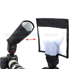 New Foldable Reflector/Reflective Speedlight Snoot/Sealed Flash Softbox Diffuser