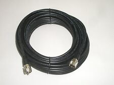 TRAM BR-8X-50 50FT RG-8X ANTENNA COAX COAXIAL PATCH CABLE BLACK w/ MOLDED PL-259
