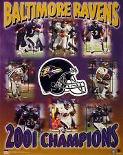 Baltimore Ravens 2001 SB Champs 16x20 Starline Poster OOP