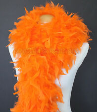 Orange 80 Grams Chandelle Feather Boa Dance Party Halloween Costume