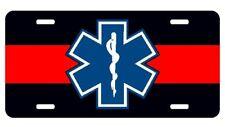 EMT firefighter medic reflective license plate car tag