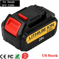 Replacement For DeWalt 20V MAX XR Lithium Ion Battery DCB200 DCB206 DCB205 5.0Ah
