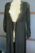 LILY of FRANCE Robe Black Lace Nylon Medium Vintage Rosa Puleo Szule