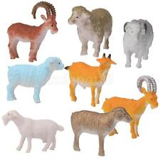 8 pcs Plastic Sheep Goat Animals Farm Yard Model Figurine Kids Favor Toys