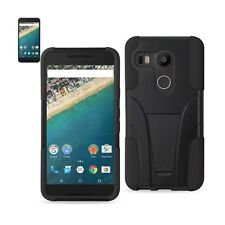 LG Nexus 5X Hybrid Case Heavy Duty Shockproof Protect Cover w/ Kickstand Black