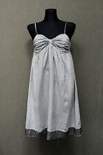 RA-RE Made in Italy Kleid dress It.42, 36  grau 100% Leinen Nieten Z23