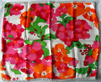 Vintage 60s 80s Fabrics Patchwork PILLOW CASE Cover Flowers Floral, Liberty Look